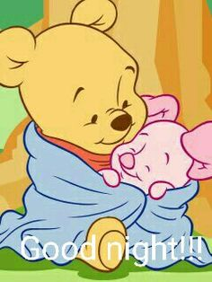 "Baby Pooh and Baby Piglet Cuddled Together in a Warm, Fluffy Blanket. ""Winnie the Pooh and Friends"" Winnie The Pooh Drawing, Winnie The Pooh Pictures, Cute Winnie The Pooh, Winne The Pooh, Winnie The Pooh Friends, Baby Disney Characters, Disney Pixar, Disney Kawaii, Pooh Baby"