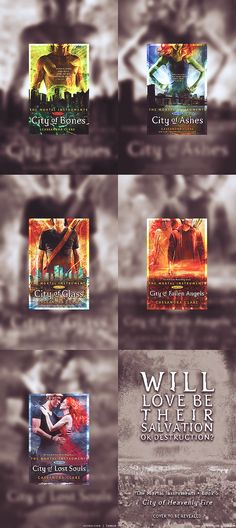 The Mortal Instruments series. I really hope the movie isn't crappy. The trailer makes me want to throw the book at whose ever idea it was to have clary with a palm tattoo. And every other aspect of the movie trailer is unspeakable. Horrid. The books itself, however, are amazing.
