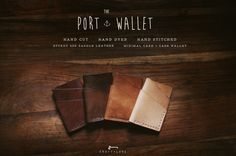 The Port Wallet. Minimal leather card wallet.