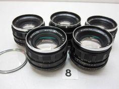 5L262GA MINOLTA ROKKOR PF 55mm F1.8レンズまとめて5本ジャンク_画像1