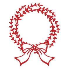Silhouette Design Store - View Design #162361: Christmas wreath with ribbon