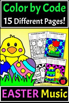 Distance Learning Easter Music Color by Code Worksheet Note Rhythm Dynamic Tempo Music Theory For Beginners, Basic Music Theory, Elementary Music, Elementary Education, Music Education, Music Activities For Kids, Music For Kids, Music Lesson Plans, Music Lessons