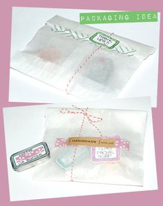 Pretty Packaging and Gift Wrap Idea Using Washi Tape and Baker's Twine