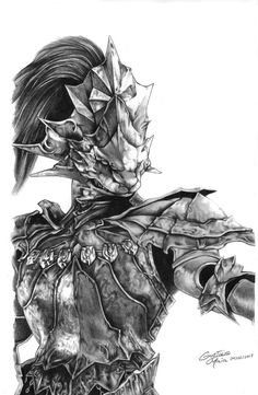Dragonslayer Ornstein- Dark Souls gustavosasquatch.deviantart.com