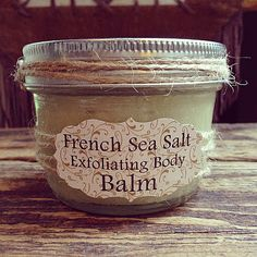 Discover how to Make this Delicate Organic Exfoliating French Sea Salt Body Scrub - works wonders on dry skin... and leaves you feeling silky smooth!