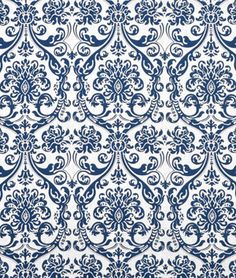 Premier Prints Abigail Navy Drew Fabric (8.60) 100% cotton, air dry only.
