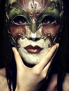 To hide behind a mask is to tell a story...no matter how intentional.