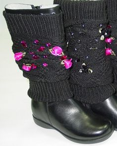 Lelli Kelly Black Boots With Removable Leg Warmers