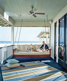 That swing is perfect for a lazy day on the porch