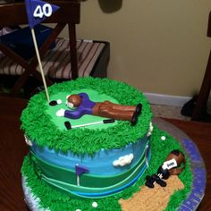 Golf themed cake for a 40th birthday surprise
