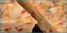 Tortilla de patata de Galicia y verduras ecológicas