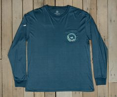 http://www.southernmarsh.com/collections/long-sleeve-tees/products/southern-marsh-fieldtec-pocket-tee-long-sleeve Southern Marsh Southern Marsh FieldTec Pocket Tee - Long Sleeve Color:Slate w/ Aquamarine Size:Small