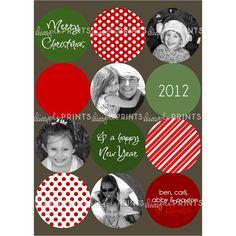Big Dot Photo Collage Printable Christmas Card - Dimple Prints Shop