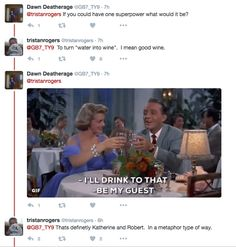 Fan fave Tristan Rogers (Robert Scorpio, General Hospital; Colin Atkinson, The Young and the Restless) imbibed a bit of wine then took to Twitter to answer fan's burning questions.