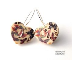 Earrings from buttons
