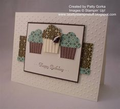Cupcake Trio by LaLatty - Cards and Paper Crafts at Splitcoaststampers
