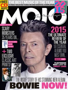 MOJO 266 is a David Bowie Special, with deluxe art prints, the inside story of his new album, ★, free Best Of 2015 CD and more inside a posh card sleeve.