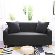 Sofa Cover for Living Room Elasticity Non-slip Couch Slipcover Universal Spandex Case for Stretch Sofa Cover Seater Fabric Sofa, Cushions On Sofa, Sofa Slipcovers, Slipcover Chair, Throw Pillows, Clean Couch, Creative Inventions, Simple Sofa, Old Sofa