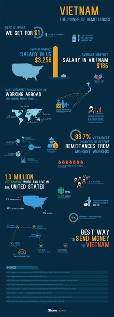 Infographic is about the significance of Vietnam remittances.