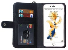 Weave Pattern iPhone 6S/6 Multi-functional 2 in 1 Detachable Zipper Wallet Leather Case