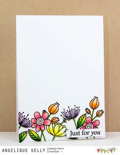just for you (Jane's Doodles) Doodle Drawings, Doodle Art, Flower Doodles, Doodle Flowers, Hand Drawn Cards, Karten Diy, Card Drawing, Watercolor Cards, Watercolor Sketch