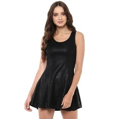 Jaune Glossy Textured Premium Black Skater Dress MRP:1999/- Sale Price:799/- Hurry Before the Stock Ends...!! https://jaunestore.com/products/jbw170533028