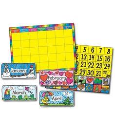 Calendar Set: Kid-Drawn Bulletin Board Set #CDWishList.
