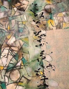 No me llevo bien con el verde, pero por alguna misteriosa razón el cuadro se encaminó para ese lugar. En fin, como decía mi maestro, la obra tiene vida propia ;-) Abstract Images, Abstract Art, Famous Contemporary Artists, Writing Art, Manet, Letter Art, Modern Calligraphy, Abstract Expressionism, Word Art