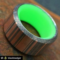 """Leaders are visionaries with poorly developed sense of fear and no concept of the odds against them."" -Robert Jarvik This pretty much sums up @blackbadger what a pleasure dude Repost @blackbadger with @repostapp  The new Portal: Copperhead ring milled from Superconductor. Tomorrow will be finishing the outside to bring the amazing copper / niobium grain out even more.  #CopperCloudsc #CopperCloud #copperniobium  #superconductor #copperhead #knifecommunity #blackbadger #customjewelry…"