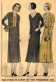 McCall Style News, August 1931 featuring McCall 6577 (embroidery 1533), 6568 and 6558