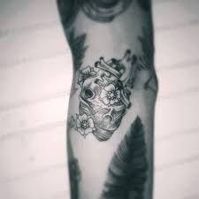 anatomical heart flower tattoo - Google Search