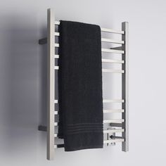 Made from high quality 304 Stainless Steel, the Radiant Square Hardwired Towel Warmer offers an energy efficient way to warm your bathroom and your towels at the same time.