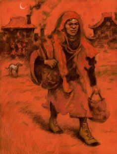 The pilgrim. Pastel on paper, 50 cm x 65 cm. Autor: Federico Milano