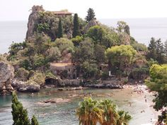 Isola Bella. Taormina beach.