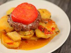 Картофель с котлетами в духовке