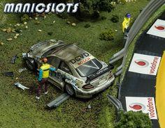 Slot Car Scenery, adding the detail, Fryar Mountain