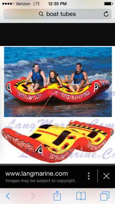 Cool boat tube