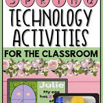 Spring Themed Technology Activities For The Classroom Computer Teacher, Computer Class, Computer Lab Lessons, Teaching Computers, Thing 1, Educational Technology, Lesson Plans, Back To School, Classroom
