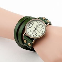 9 Colors 2016 Antique Watch Fashion Wrap Winding Vintage Watch Cow leather Bracelet Watches Ladies Women Wristwatches