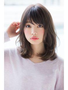 Hair Cuts Asian Shoulder Length Layered Hairstyles 68 New Ideas Medium Cut, Medium Hair Cuts, Short Hair Cuts, Medium Hair Styles, Short Hair Styles, Shoulder Length Hair With Bangs, Middle Length Hair, Shoulder Hair, Korean Hairstyle Medium Shoulder Length