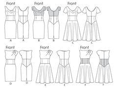V8872   Misses' Dress   View All   Vogue Patterns. (Sz 6-14). (##SEARCHpatterns)