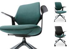 Otočná moderní židle Trillo s moderní ukrytou samonastavitelnou mechanikou SELF s blokací ve dvou polohách.