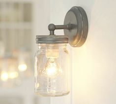 Pottery Barn :: Exeter Sconce #potterybarn   * ooohhhh... a few of these in the bathroom and the big chandelier in the bedroom... call it done and perfect *