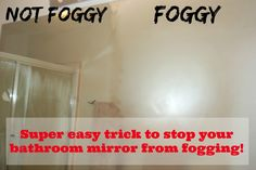 Super easy trick to stop your bathroom mirror from fogging!