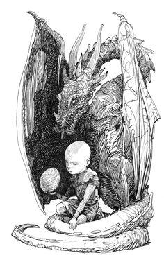 "Prince Aegon ""Egg"" Targaryen. Knight of the Seven Kingdoms illustration by Gary Gianni #asoiaf"