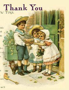 64 Best Vintage Thank You Cards Images On Pinterest Vintage Images