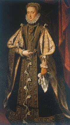 1571 Anna of Austria by Alonso Sánchez Coello
