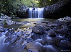 11 Waterfalls to photograph in SEQ --> Lip Falls, Denham Scenic Reserve, Beechmont by @swaller4