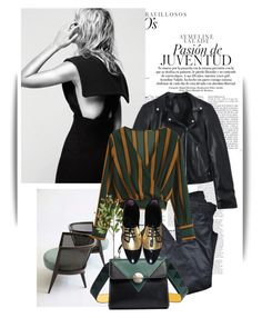 """""""Black and green"""" by maja-k ❤ liked on Polyvore featuring Maje and Crate and Barrel"""