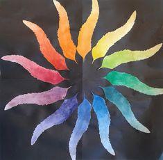 a faithful attempt: Personalized Colour Wheels Black Construction Paper, School Art Projects, Chalk Pastels, Color Theory, Colour Wheel, Art Techniques, Paint Colors, Paintings, Artist